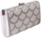 staychicfashion Luxury Fish Scale Pearl Beaded Bridal Evening Clutch Bag Hardbox Wallet Purse
