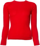 Alexander Wang ring trim ribbed sweater - women - Cotton - M
