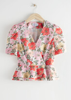 Thumbnail for your product : And other stories Puff Sleeve Peplum Top