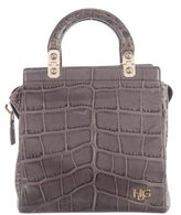 Givenchy HDG Embossed Leather Satchel