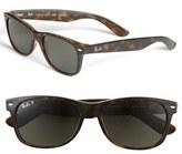 Ray-Ban Men's 'New Wayfarer' 55Mm Polarized Sunglasses - Black/ Green P