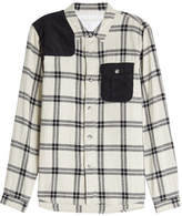 White Mountaineering Printed Cotton Shirt with Corduroy Details
