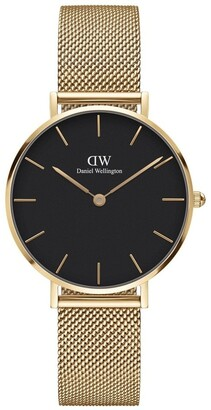 Daniel Wellington Petite 32 Evergold Black Dial