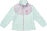 U.S. Polo Assn. Mint & Gray Polar Fleece Jacket - Girls