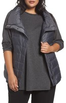 Eileen Fisher Plus Size Women's Stand Collar Vest