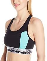 Calvin Klein Women's Color Blocked Logo Elastic Bra