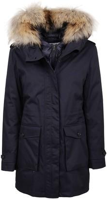 Woolrich Blue Cotton Down Jacket