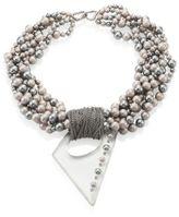 Alexis Bittar Multi-Strand Faux-Pearl Pendant Neckacle