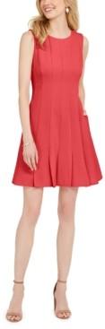 Jessica Howard Petite Pleated Fit & Flare Dress