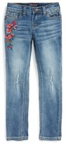 Vigoss Girl's Floral Bouquet Embroidered Jeans