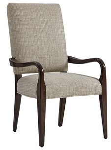 Lexington Laurel Canyon Upholstered Arm Chair in Gray