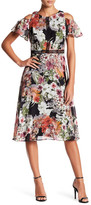 Gabby Skye Floral Cold Shoulder Dress