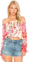 Rococo Sand Off the Shoulder Top in Pink. - size L (also in XS)