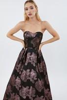 Coast Floral Jacquard Bandeau Maxi Dress
