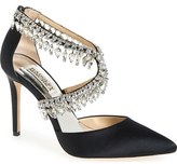 Badgley Mischka 'Glamorous' Crystal-Embellished Pointy Toe Pump (Women)