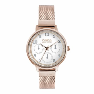 OWL Women's Analogue Japanese Quartz Watch with Stainless Steel Strap H8MRW