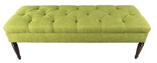 Mjl Furniture Designs MJL Furniture Claudia Diamond Tuft Key Largo Upholstered Long Bench