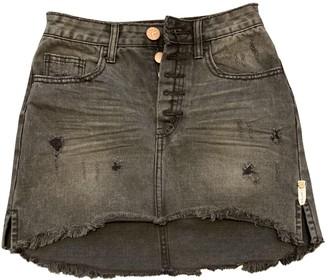One Teaspoon Black Denim - Jeans Skirt for Women