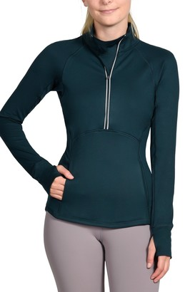 90 Degree By Reflex Missy Half Zip Top