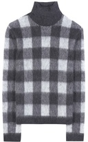 Balenciaga Check Wool And Mohair-blend Turtleneck Sweater