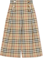 Burberry vintage check sailor trousers