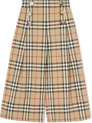 BURBERRY KIDS Vintage Check Sailor Trousers