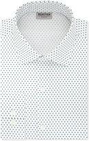 Kenneth Cole Reaction Men's Slim-Fit Techni-Cole 3 Way Flex Teal Print Dress Shirt