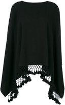 Twin-Set tassel-edged poncho - women - Acrylic - One Size