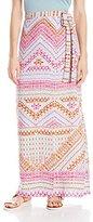 BCBGMAXAZRIA Women's Aviva Printed Maxi Skirt