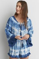 American Eagle Outfitters AE Tie Dye Lace-Up Romper
