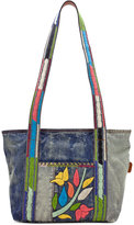 Patricia Nash Floral Embroidery Nevoso Double-Zip Tote