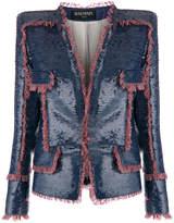 Balmain fringe-trimmed sequin jacket