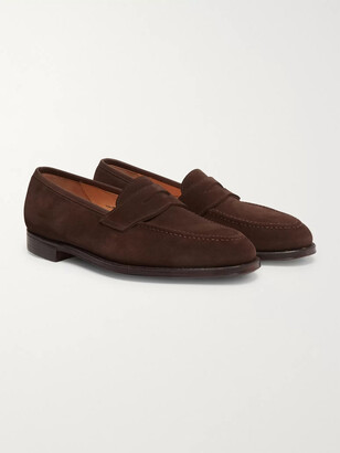 George Cleverley Bradley Suede Penny Loafers