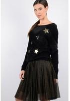 Molly Bracken Fine-Knit, Round-Neck Sweater
