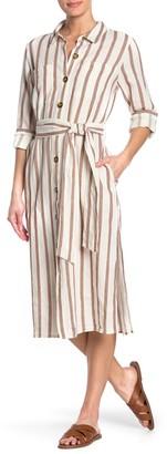 Velvet Heart Joselle Long Tab Sleeve Button Down Dress