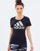 adidas Women's Badge of Sport Foil Tee