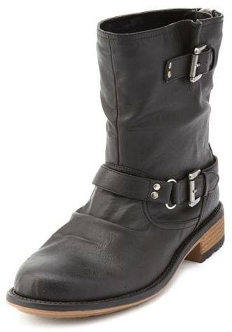 Charlotte Russe Zip-Back Motorcycle Boot