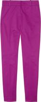 Café stretch-cotton Capri pants