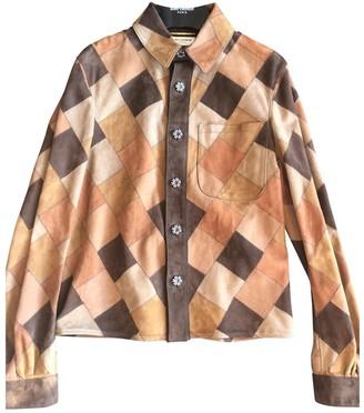 Saint Laurent Camel Leather Jackets