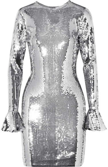MICHAEL Michael Kors Sequined Stretch-chiffon Mini Dress