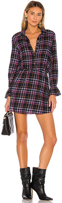 1 STATE Button Up Plaid Dress