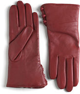 Lord & Taylor Rabbit Fur Lined Cuff Leather Gloves