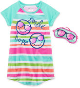Asstd National Brand Sleep On It Smile Sleep Shirt - Preschool Girls 4-6x