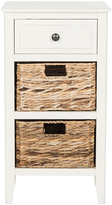 Safavieh Distressed White Eva Drawer Side Table