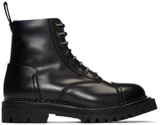 Kenzo Black Kamden Lace-Up Boots