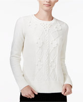 Maison Jules Textured Sweater, Only at Macy's