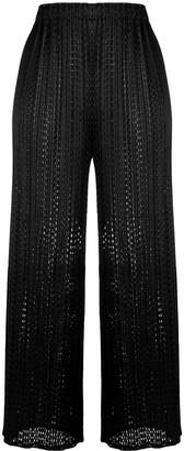 Pleats Please Issey Miyake mesh cropped trousers