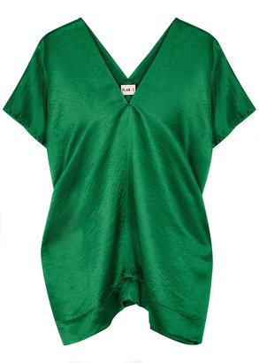 Plan C Emerald satin tunic top