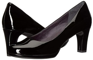 Rockport Total Motion Leah Pump (Black Patent) Women's Shoes