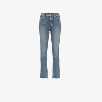 RE/DONE Double Needle Straight Leg Jeans